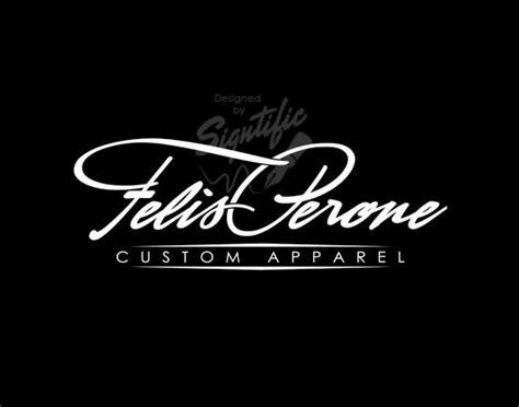 T-shirt And Apparel Logo Custom Name Brand Logo Name