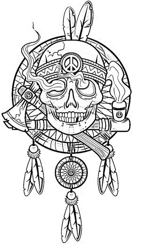 printable skull art biker tattoos drawings