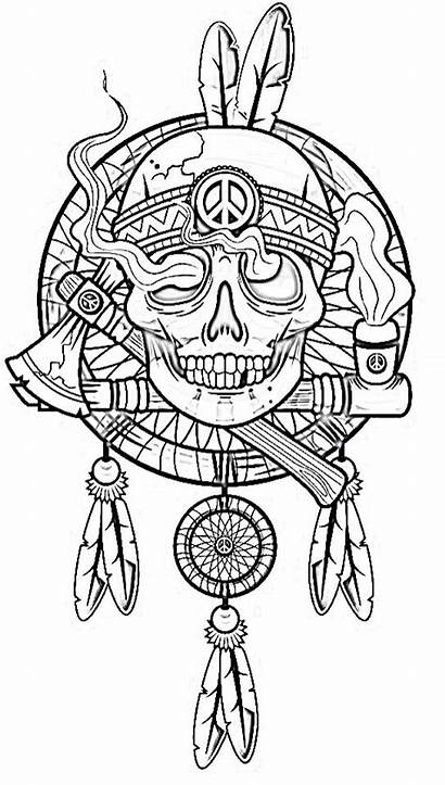 Coloring Pages Biker Tattoos Skull Printable Tattoo
