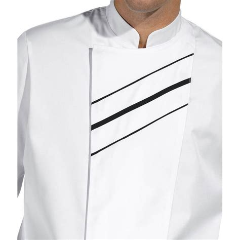 vestes de cuisine veste de cuisine passepoil contrastant sur le devant boutons pression invisibles
