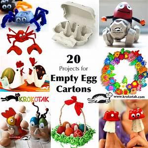 krokotak Easter Hen – Egg Carton and Cardboard