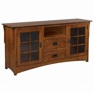 New Mission Collection Two Drawer Two Door TV Stand