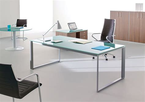 bureau plaque de verre bureau en verre