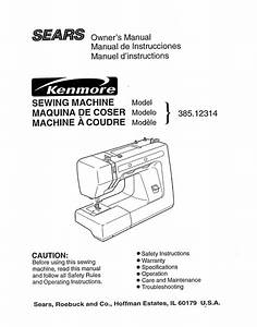 Sewing Machine Owner U0026 39 S Manual