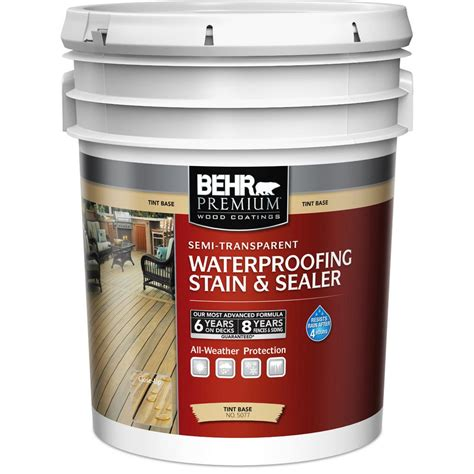 behr premium  gal white tint base semi transparent