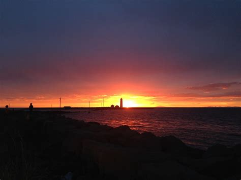 Icelandic midnight sun - photos