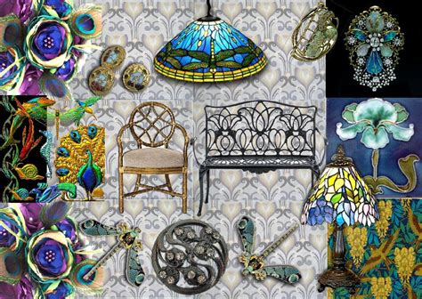 Modern wall decor ideas and how to avoid wall decor that is wider than the furniture piece; Moodboard Inspiration: Interior Design   Art Nouveau style ...