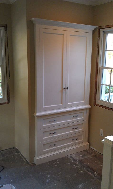 custom built in armoire i just completed home ideas