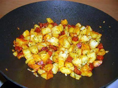 recettes de cuisine au wok recette de wok de pommes de terre et chorizo