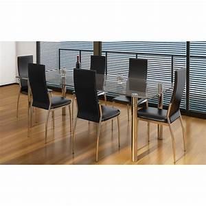 Stühle Esszimmer Schwarz : der esszimmer st hle 6er set schwarz chrom kunstleder ~ Michelbontemps.com Haus und Dekorationen