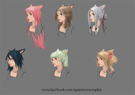 hairstyles concept   ffxiv