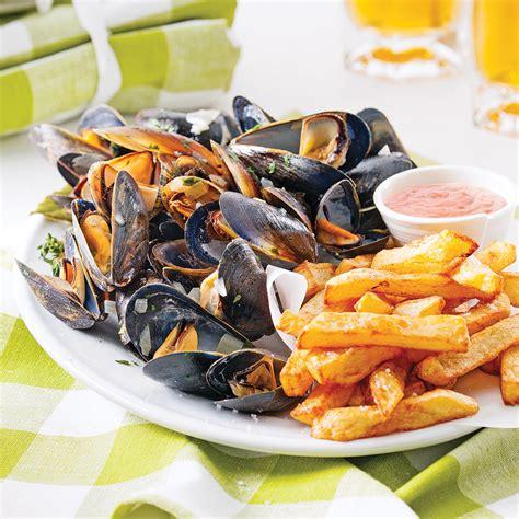 moules cuisine moules frites à la belge recettes cuisine et nutrition