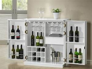 Petit Meuble Bar : meuble de bar gordon h v a mdf weng ou blanc ~ Teatrodelosmanantiales.com Idées de Décoration