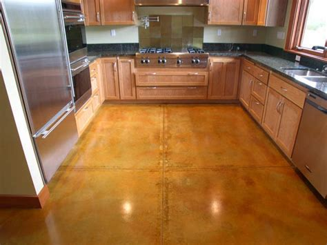 stained concrete kitchen floor how to stain concrete adding color to cement surfaces hgtv 5695