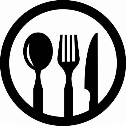 Icon Svg Restaurant Symbol Circle Cutlery Onlinewebfonts