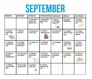 Funny National Days Calendar September 2016