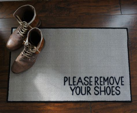 2' x 3' Remove Your Shoes Welcome Doormat   FloorMatShop