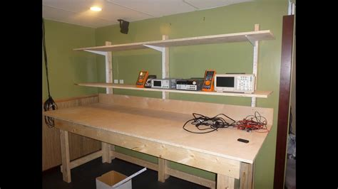 Laboratory Bench Work by Diy Lab Bench With Shelves Pt1 The Bench