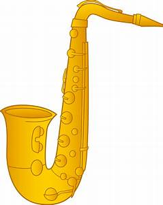 Saxophone Clip Art Design - Free Clip Art