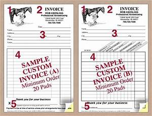 custom invoice pads modern farrier design wwwhoofprintscom With invoice pads personalized