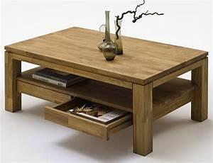 Table De Salon Bois : table de salon bois table basse chene maisonjoffrois ~ Teatrodelosmanantiales.com Idées de Décoration