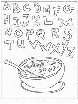 Alphabet Coloring Soup Abc Pages Printable Worksheets Letter Letters Sheets Printables Bestcoloringpagesforkids Storybookstephanie Vegetable Growing Books Getcolorings Popular Coloringhome sketch template