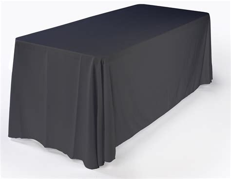 6ft Black Standard Table Cover, Trade Show Accessory
