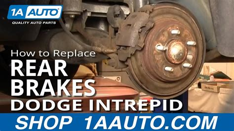replace rear brakes   dodge intrepid youtube