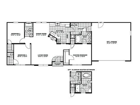 Clayton Homes Rutledge Floor Plans by Manufactured Home Floor Plan Clayton Fireside Garage