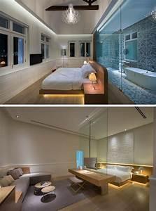 lit avec led integre au dessous 11 exemples exclusifs With carrelage adhesif salle de bain avec tete de lit avec led integre
