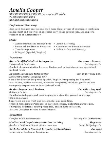 Best State Certified Medical Interpreter Resumes | ResumeHelp