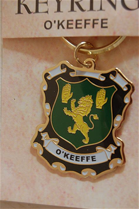 keyrings family coat  arms okeefe keyring keychain