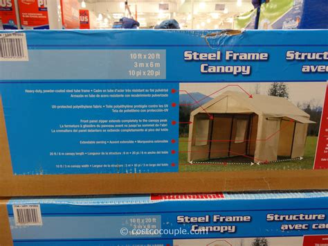 costco canopy 10x20 steel frame canopy with side walls