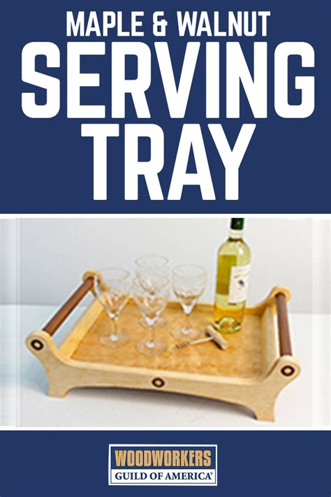 maple walnut serving tray woodworking plans