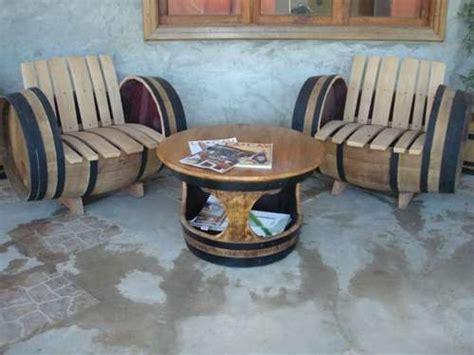 muebles hechos  barricas de vino   ideas
