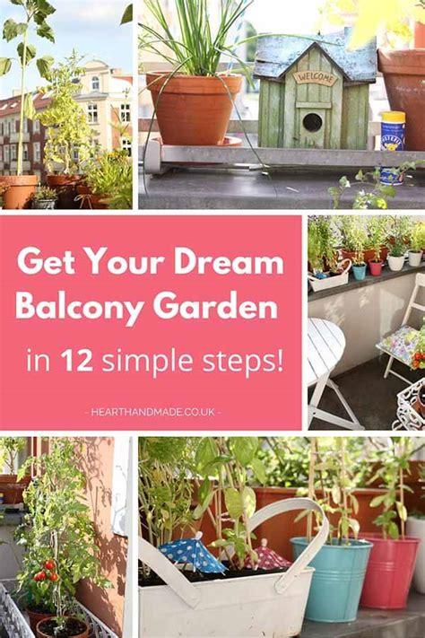 dream balcony garden   simple steps heart