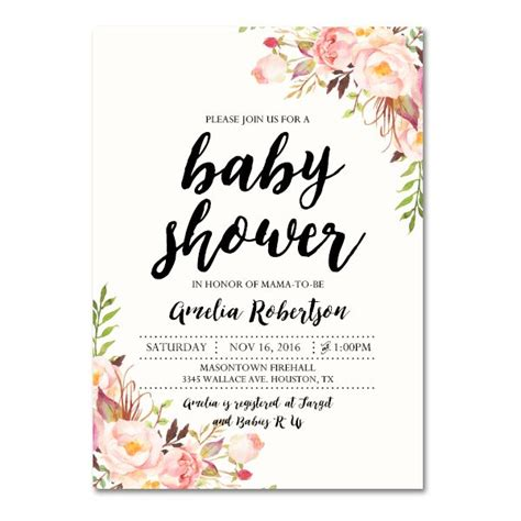 free baby shower invitations templates pdf editable pdf baby shower invitation diy vintage watercolor flowers instant