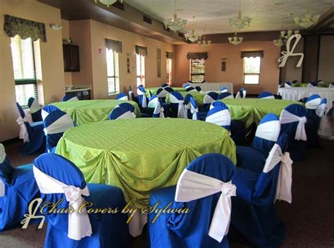chicago chair covers for rental in royal blue in the