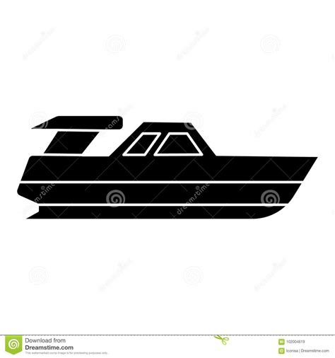 Boat Launch Icon by Boat Launch Yacht Icon Vector Illustration Black Sign