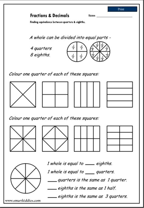 New 350 Fractions Worksheets Halves Quarters And Eighths  Fraction Worksheet