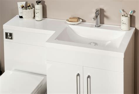 l shaped bathroom vanity unit cassellie l shaped white basin vanity and back to wall wc unit
