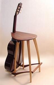 Guitar Stool/ Guitar Stand Fillingham Art Furniture Design