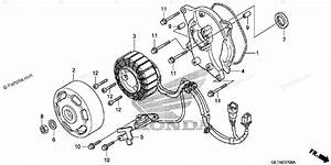 Honda Scooter 2007 Oem Parts Diagram For Alternator Stator