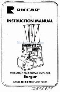 Riccar Serger Rl624 User Manual Pdf Download