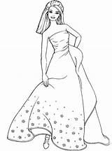 Coloring Pages Dresses Colouring Printable Lady Barbie Princess Sheets Formal Prom Jasmine Disney Wear Easy Detailed sketch template