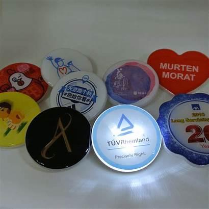 Led Acrylic Flash Flashing Badges Badge Promotional