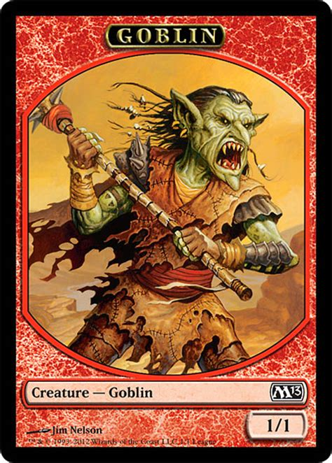 Goblin Token Commander Deck by League Token Daily Mtg Magic The Gathering
