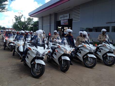 work  laosnew police motorcycles  vientiane police