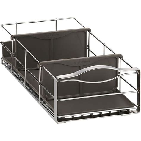simplehuman 14 in pull out cabinet organizer simplehuman small pull out cabinet organizer in food