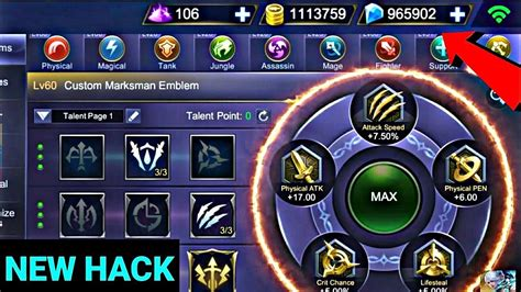 Real Mobile Legend Unlimited Hack No Root (high Damage/one